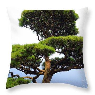 Black Pine Japan Throw Pillow