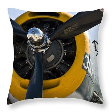 Black Propeller Throw Pillow