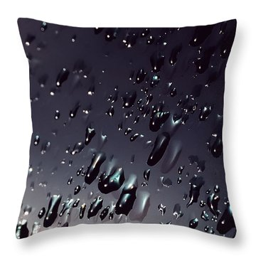 Black Rain Throw Pillow by Steven Milner