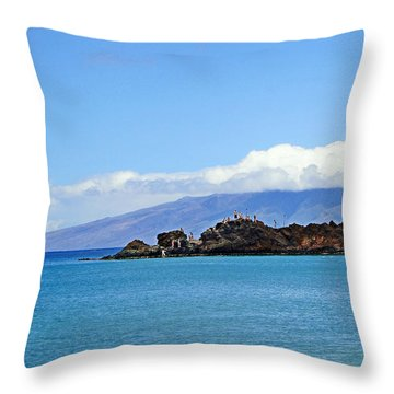 Black Rock Beach And Lanai Throw Pillow