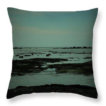 Black Rock Beach Throw Pillow