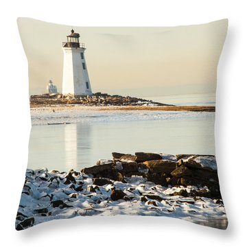 Black Rock Harbor Throw Pillow