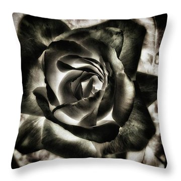 Throw Pillow featuring the photograph Black Rose. Symbol Of Farewells by Mr Photojimsf
