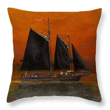 Black Sails In The Sunset Throw Pillow