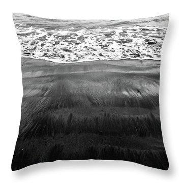 Black Sands  Throw Pillow
