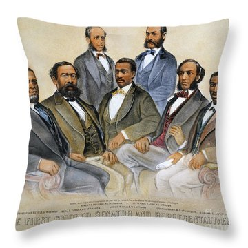 Black Senators, 1872 Throw Pillow by Granger