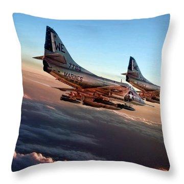 Black Sheep Skyhawks Throw Pillow