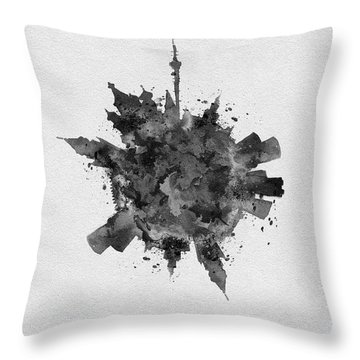 Black Skyround Art Of Moscow, Russia Throw Pillow