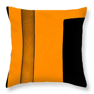 Black Space Throw Pillow