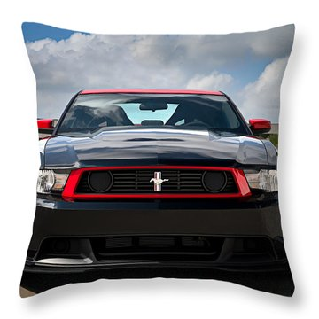 Black Stallion Throw Pillow