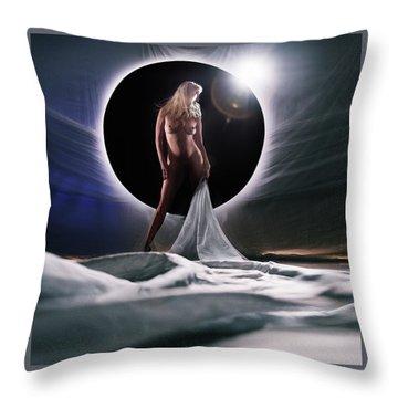 Black Star Center Throw Pillow