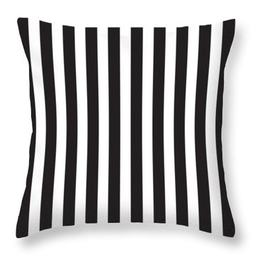 Black Stripes Throw Pillow