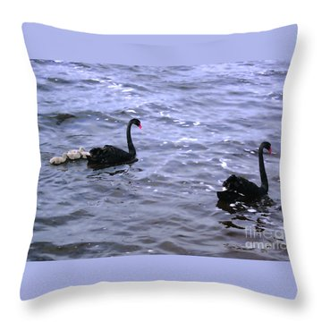 Black Swan Family Throw Pillow