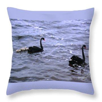 Black Swan Family Throw Pillow
