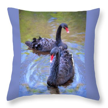 Black Swans Throw Pillow