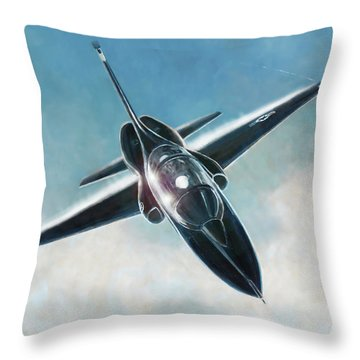 Black T-38 Throw Pillow