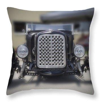 Black T-bucket Throw Pillow
