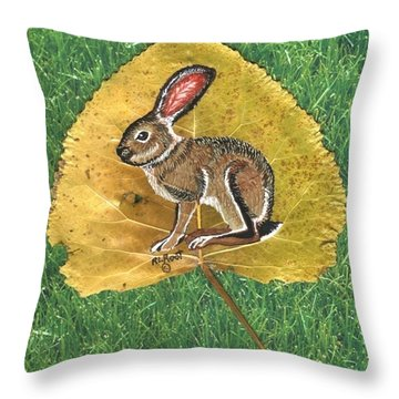 Black Tail Jack Rabbit  Throw Pillow