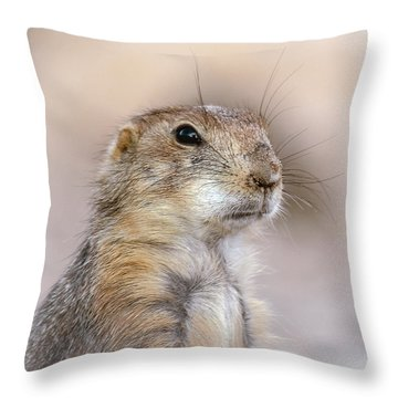 Black Tail Prairie Dog Throw Pillow