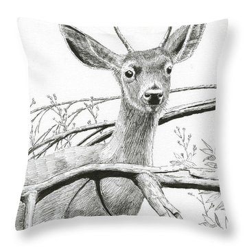 Black Tail Spike Throw Pillow