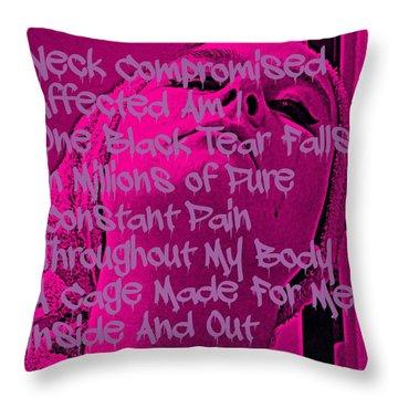 Black Tear Throw Pillow