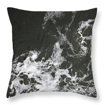 Black Water Marble  Throw Pillow