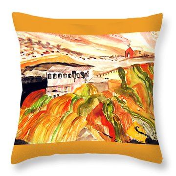 Black Waters Of The Andes Throw Pillow