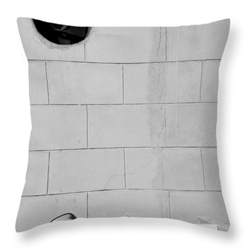 Black White Grey Throw Pillow by Prakash Ghai