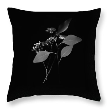 Floating Black And White Throw Pillow