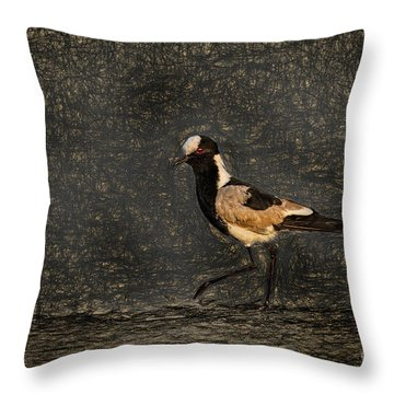 Black-wing Lapwing Da Vinci Throw Pillow by Kay Brewer