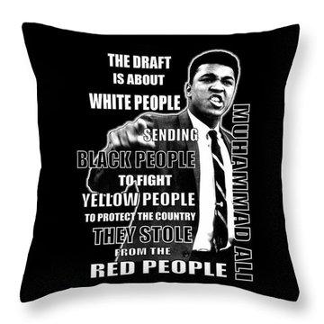 Black Yellow Red Ali Throw Pillow