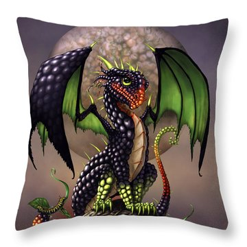 Blackberry Dragon Throw Pillow