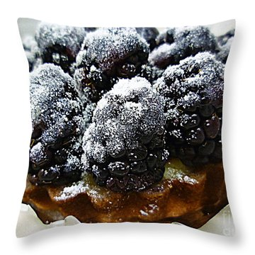 Blackberry Tart Throw Pillow