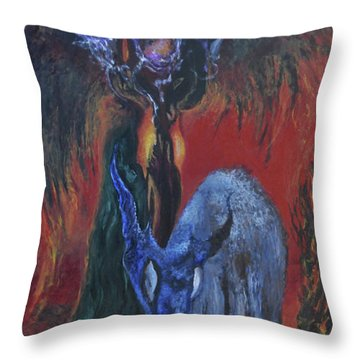 Blackberry Thorn Psychosis Throw Pillow