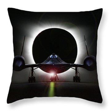Blackbird Eclipse Throw Pillow