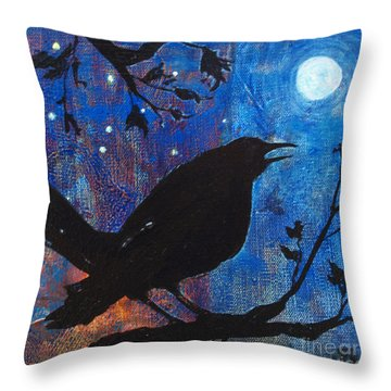 Blackbird Singing Throw Pillow