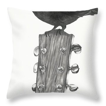 Blackbird Solo  Throw Pillow by Meagan  Visser