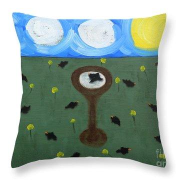 Blackbirds Throw Pillow by Patrick J Murphy