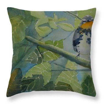 Blackburnian Warbler I Throw Pillow