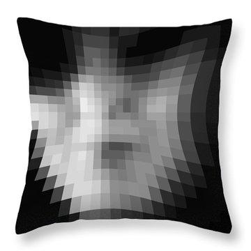 Blackened Throw Pillow