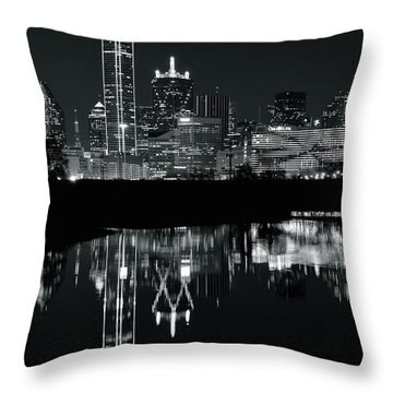 Blackest Night In Big D Throw Pillow