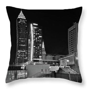 Throw Pillow featuring the photograph Blackest Night In Cle by Frozen in Time Fine Art Photography