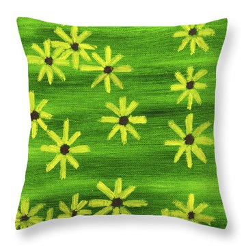 Blackeyed Susan Throw Pillow by Anthony LaRocca
