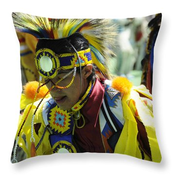Blackfoot Pow Wow Throw Pillow