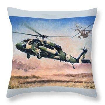 'blackhawk Manoevours' Throw Pillow