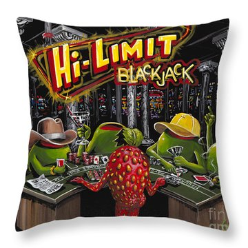 Blackjack Pimps Throw Pillow