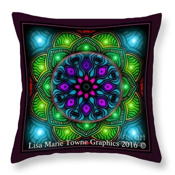Blacklight 15 Throw Pillow