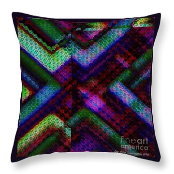 Blacklight 727 Throw Pillow