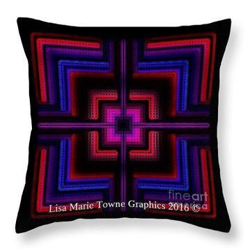 Blacklight3 Throw Pillow