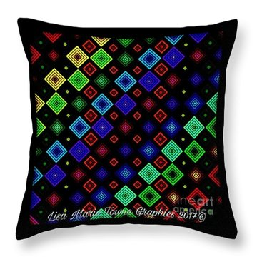 Blacklight5 Throw Pillow